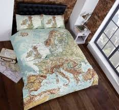 Duvet Cover Double Bed Size Vintage Maps Panel Duvet Cover Quilt Bedding Set Double World Map