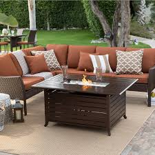 Firepit Set by Belham Living Devon All Weather Wicker Fire Pit Conversation Set