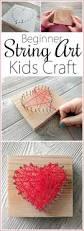 heart shaped beginner string art kids craft reality daydream