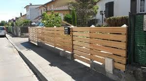 cloture jardin bois bois de cloture cloison de jardin idmaison