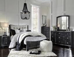 Larimer Upholstered Bedroom Set Amrothi Black Panel Bedroom Set From Ashley Coleman Furniture