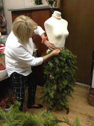 sew much to give my mannequin dress form christmas tree