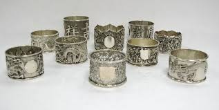 selection of silver napkin rings export
