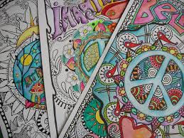 hippie coloring pages hippie posters imagine peace believe