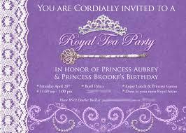 princess tea party invitations plumegiant com
