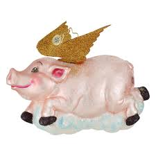 radko ornaments pig ornament when pigs fly