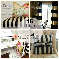 monochrome home decor 15 stripes u0026 floral home decor vintage romance style