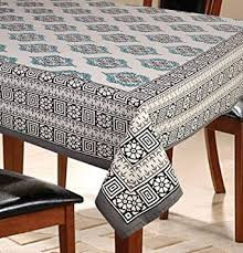 Online Shopping For Dining Table Cover Buy 6 Seater Floral Grey Dining Table Cover Online At Low Prices