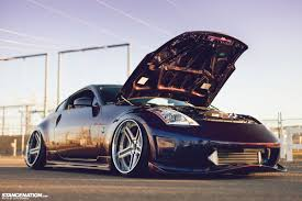 slammed nissan 350z twin turbo nissan 350z with ksport pro plus air suspension