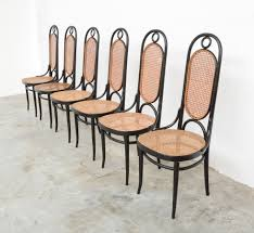 Thonet Vintage Chairs Set Of 6 Thonet Dining Chairs 207 R Vintage Design Point