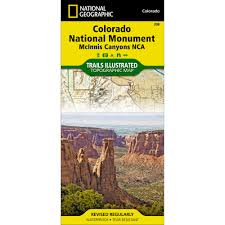 Colorado Ohv Trail Maps by 208 Colorado National Monument Trail Map National Geographic Store