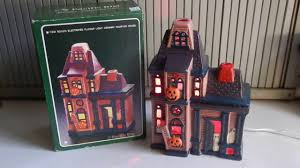 vintage ceramic flashing light up haunted house ghosts halloween