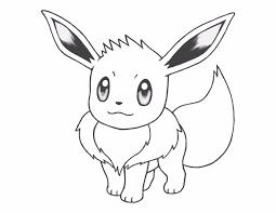 pokemon eevee coloring pages eevee coloring page free printable