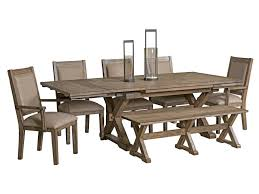 kincaid dining room kincaid furniture foundry seven piece rustic dining set with bench