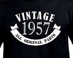 gifts for turning 60 years 60th birthday gift for 1957 vintage t