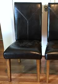 Leather Parson Dining Chairs How To Reupholster A Dining Chair Straying From Your Usual