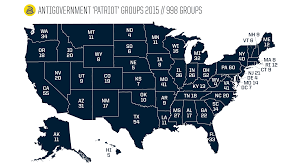 Ohio Map Us by Active Antigovernment Groups In The United States Southern