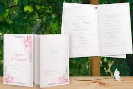 Booklet Wedding Programs Program Templates Foldover