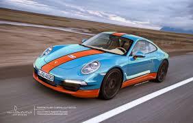 gulf porsche 911 porsche 911 991 gulf edition yeah so the left