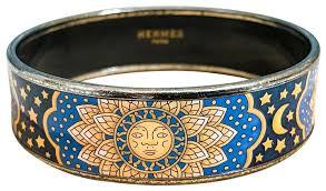 blue bangle bracelet images Herm s blue moon stars enamel bangle bracelet tradesy jpg