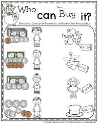 money worksheets for first grade free worksheets library