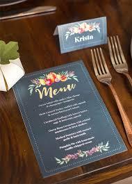 Diy Wedding Menu Cards Best 25 Wedding Menu Cards Ideas On Pinterest Wedding Menu