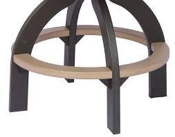 poly lumber elite cozi back swivel bar chair