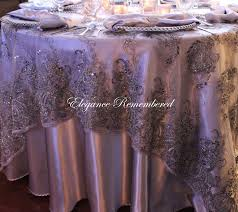 silver lace table overlay elegance remembered llc linen rentals