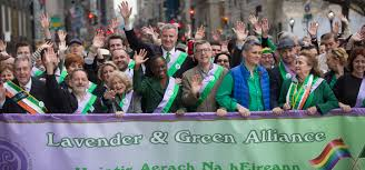 a lavender and green parade for nyc irish america