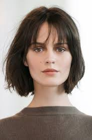 images of womens short hairstyles with layered low hairline 10 low maintenance lob length cuts we love lob wispy bangs and
