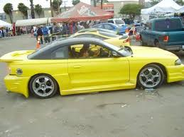 Black 98 Mustang Ugliest Yellow 94 98 Mustang Ever Spot The Cheese Car With Black