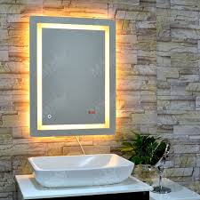 online shop mgonz time display anti fog bathroom mirror led right