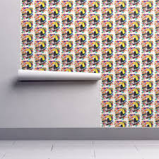 splash home decor isobar durable wallpaper featuring painted toucan and painting