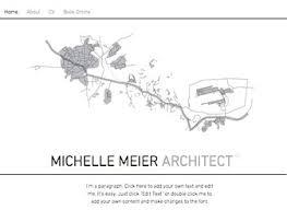 architect portfolio website template wix