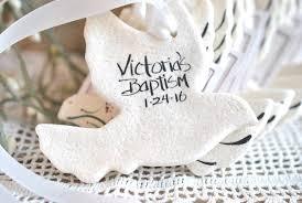 baptism ornament favors personalized dove favors wedding baptism salt dough dove