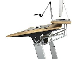 Ergonomic Drafting Table The Locus Standing Desk Or Drafting Table With Stay Flat Monitor
