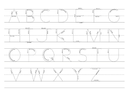 free printable letter tracing worksheets for kindergarten preschool