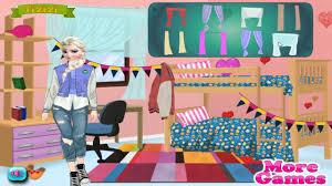 elisa college room deco cartoon games for kids youtube