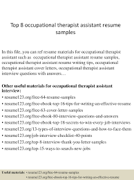 Physical Therapy Resume Examples by Resume Occupational Therapist Virtren Com