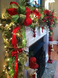christmas garlands for stairs fireplaces and lights founterior