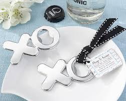 bottle opener wedding favors xo hugs and kisses chrome bottle opener