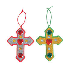 cross christmas ornament craft kit christmas ornament crafts