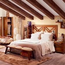 chambre style ethnique chevet en bois exotique tali chambre style colonial