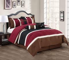 California King Comforter Set 7 Piece Cal King Burgundy Coffee Black Comforter Set