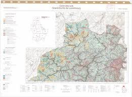 Map Of Luxembourg Carte Des Sols Du Grand Duche De Luxembourg Feuille 1