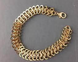 chain link bracelet gold images Chain link bracelet etsy jpg