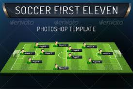first eleven soccer photoshop template graphicriver first eleven
