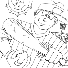 coloring pages for kids baseball coloring pages