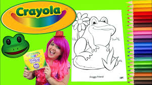 Coloring Frog Crayola Coloring Book Colored Pencil