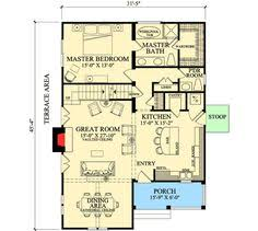Bungalo Floor Plan First Floor Plan Of Bungalow Coastal Cottage Country Farmhouse